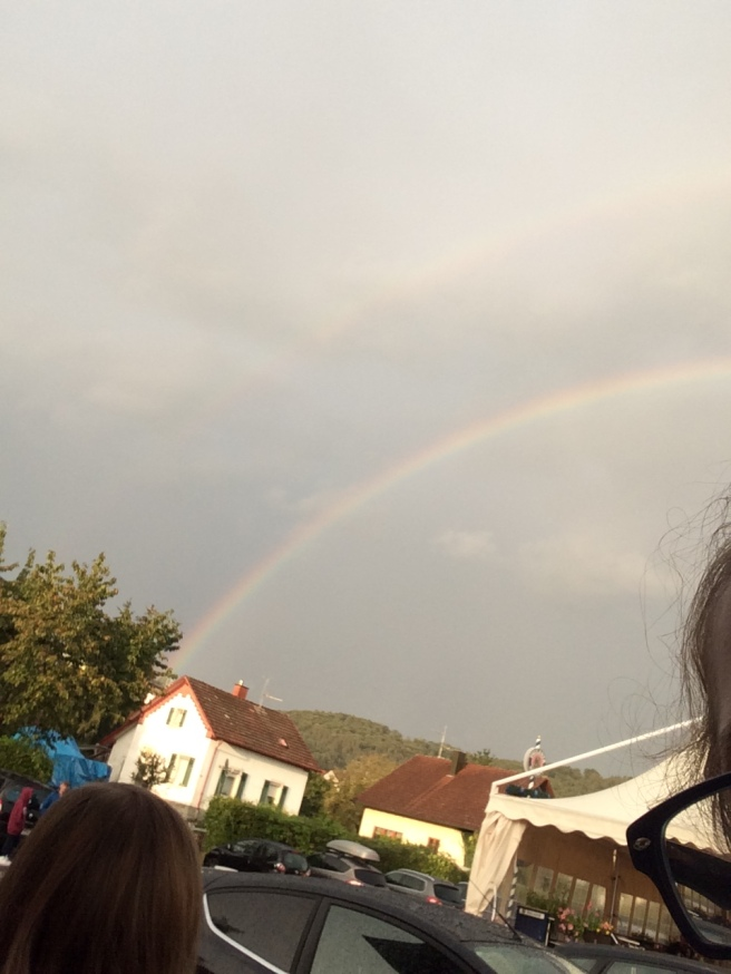 double rainbow!! Don´t know if you can see the other one in this picture! But yea!! Good day :)