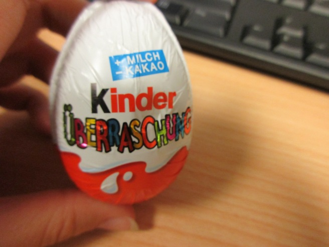 First Kinder Egg I have seen the whole time I have been in Germany!