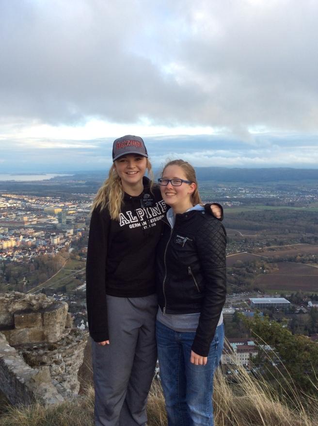 Sister Hancock and Megan at Hohentwiel