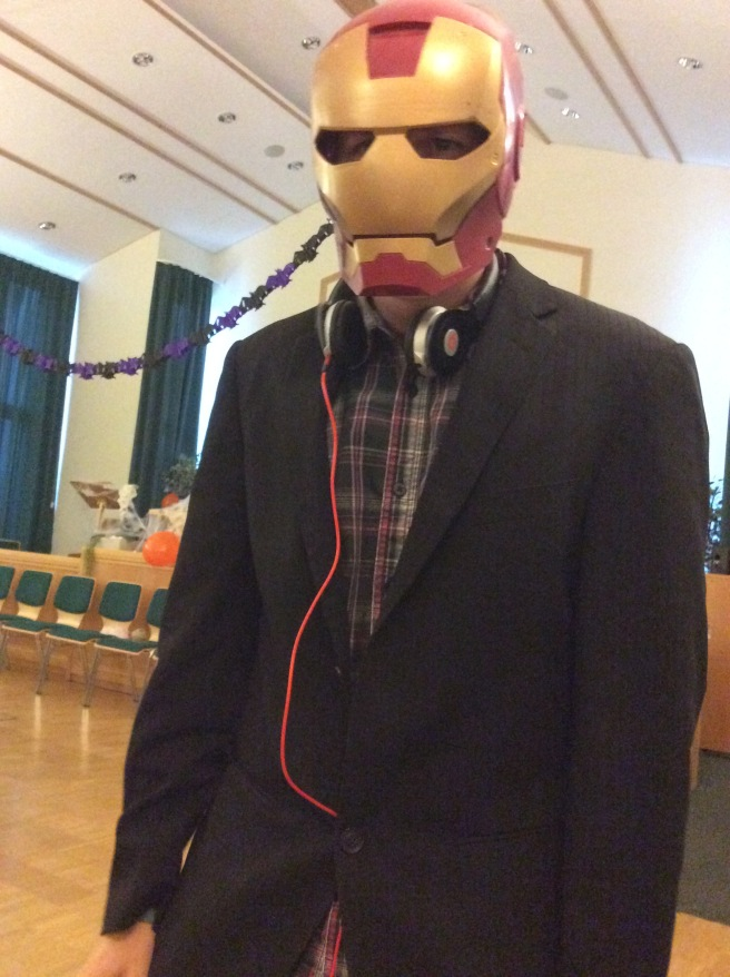 I found Iron Man at the Halloween Party!
