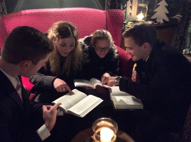 Us Singen Missionaries study hard :)