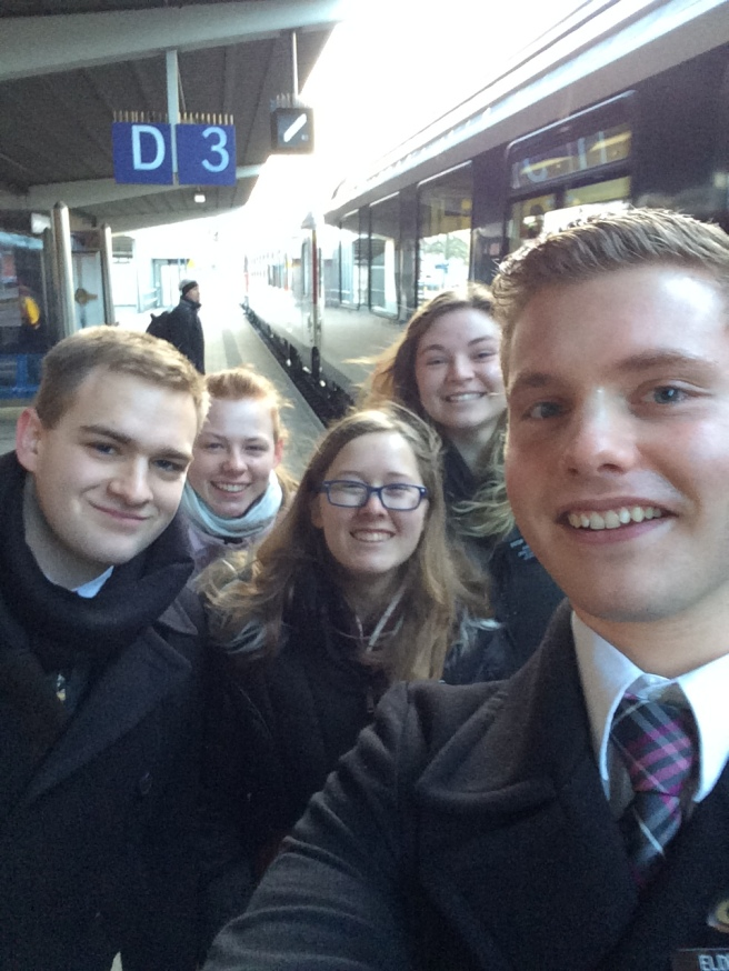 Saying our goodbyes at the Singen Train Station--Transfers!