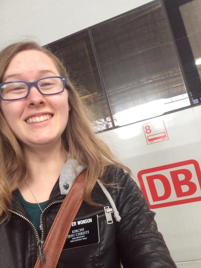 Megan found German trains in Switzerland
