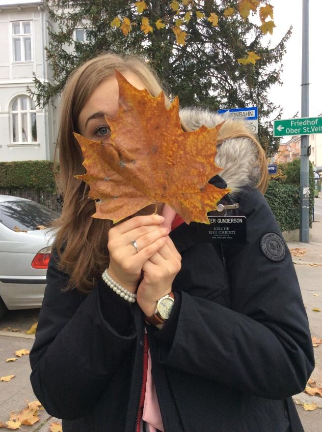 Sister Gunderson found a HUGE leaf!!!