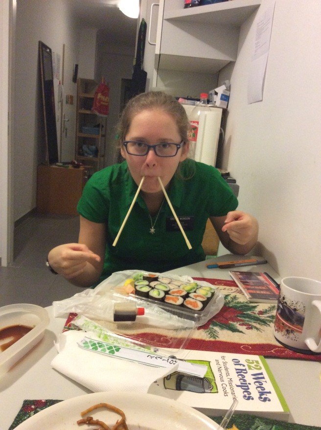 This is how you eat Sushi... right? ;P
