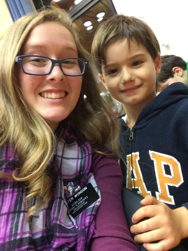 Me and Mateo at the Ward Christmas Party!