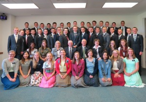 Here's a pic of Megan at the MTC. She is in the second row, on the right. :-)