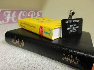 German Scriptures, German Dictionary, German Nametag