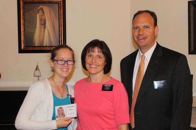 Sister Wonson with President and Sister Kohler