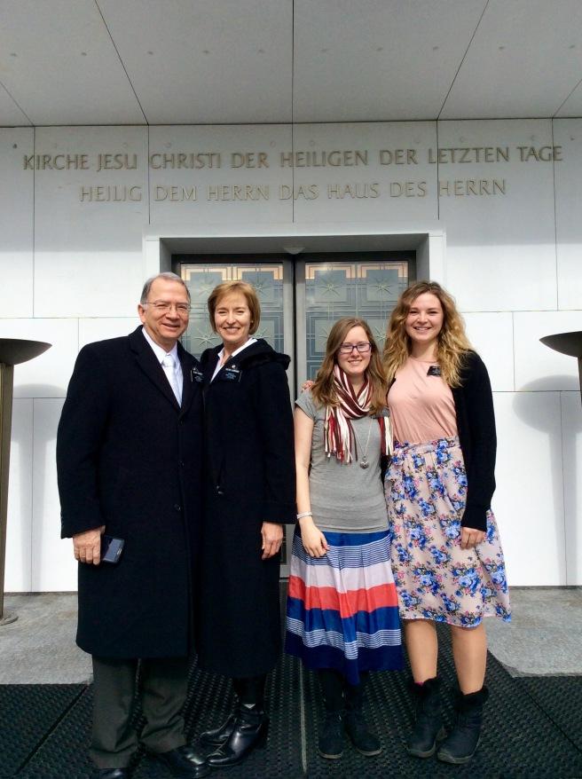 Bern Temple with Ehepaar Gardners