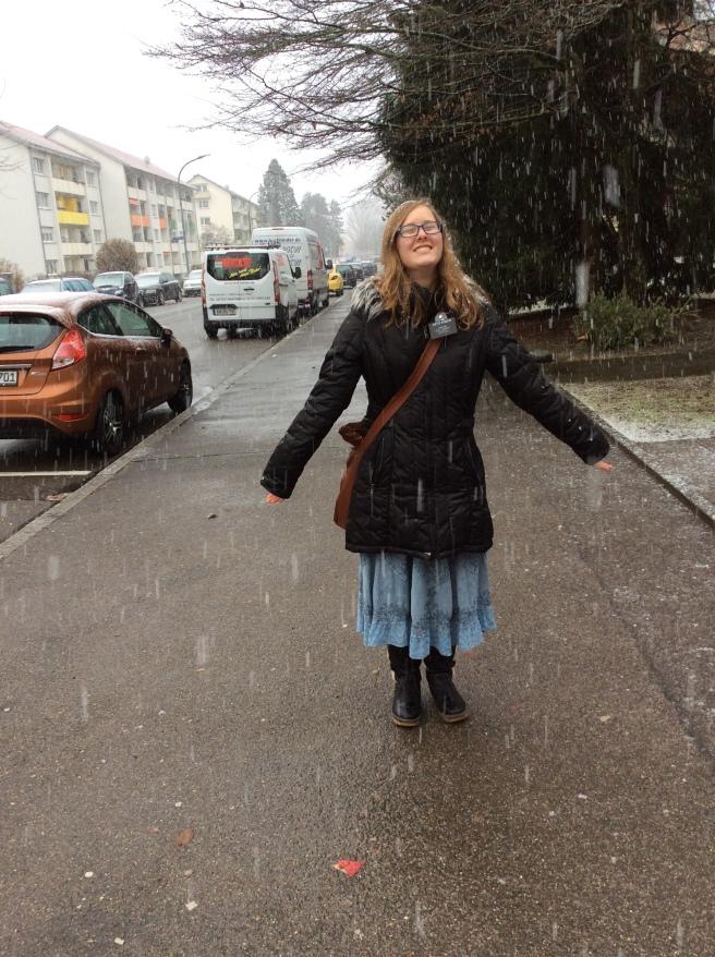 Snowfall in Singen