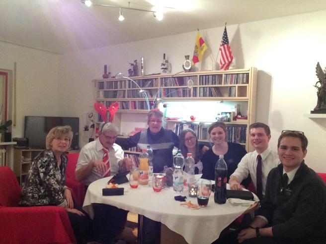 Christmas Eve dinner with Elders and Familie Lueddecke!