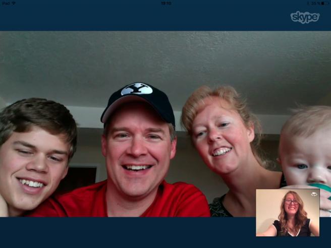 Christmas Skype with Family